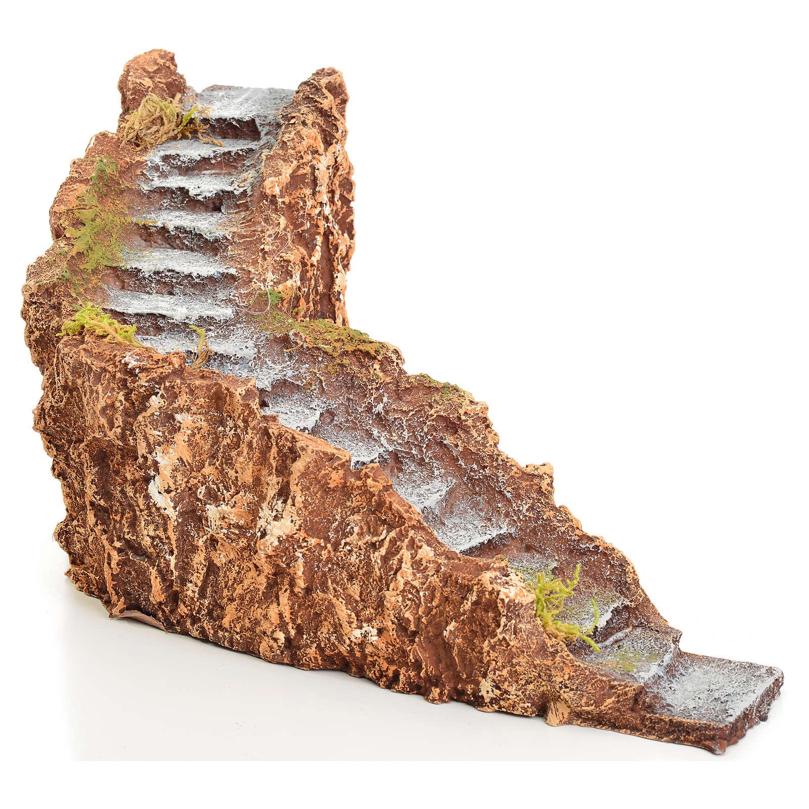 Treppe für Krippe Harz 10x20x16 4