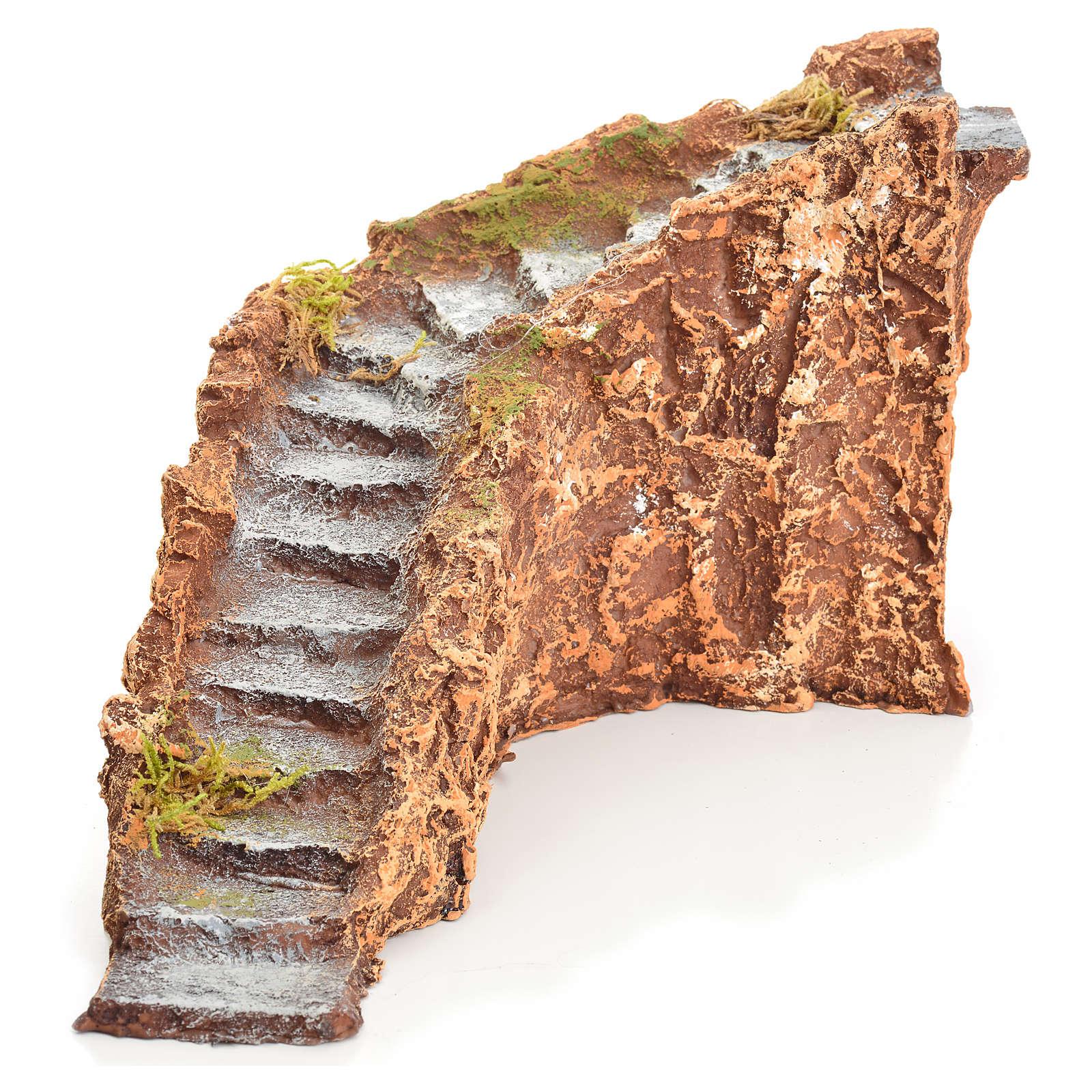 Scala resina per presepe 10x20x16 cm 4