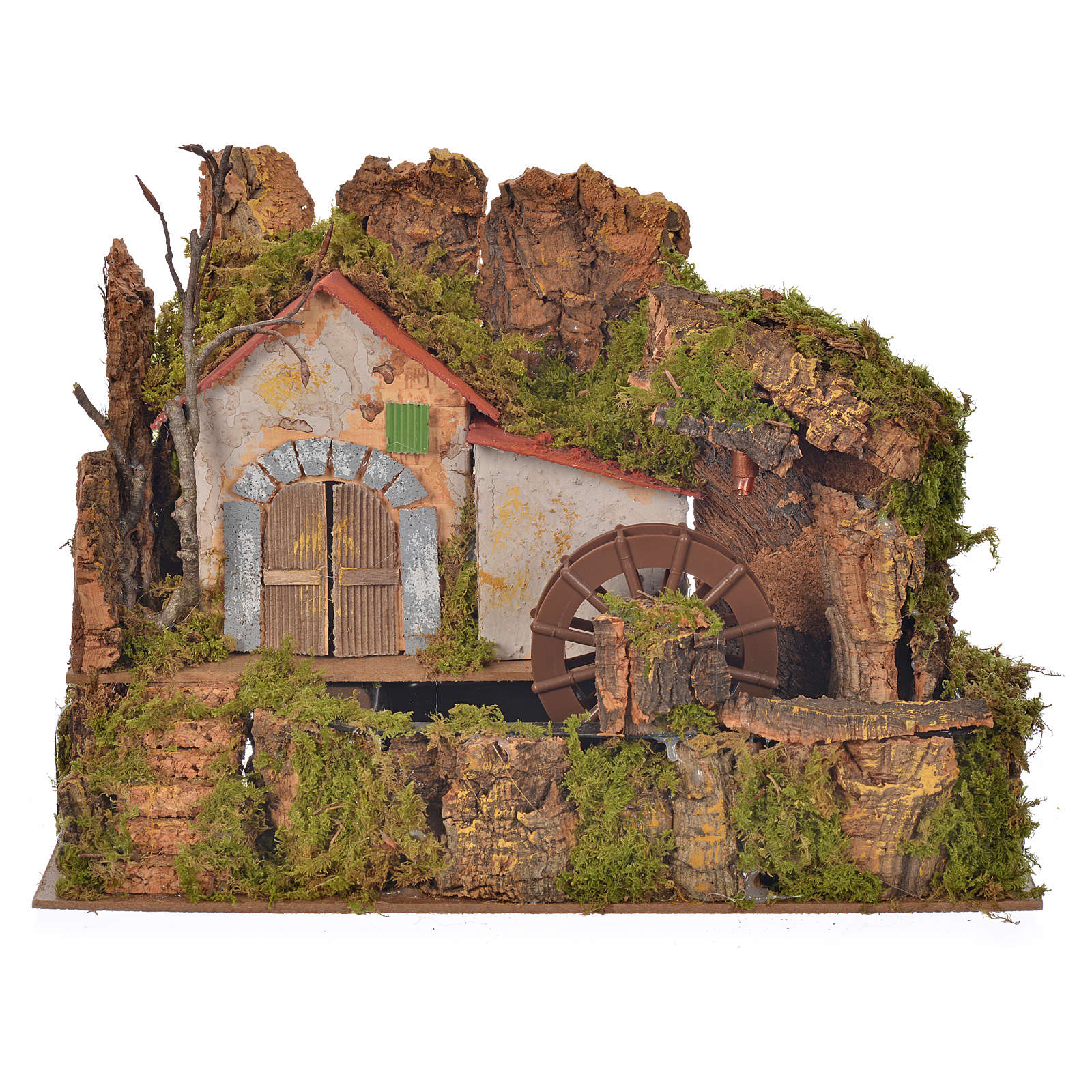Nativity water mill with pump 33x18x25cm 4