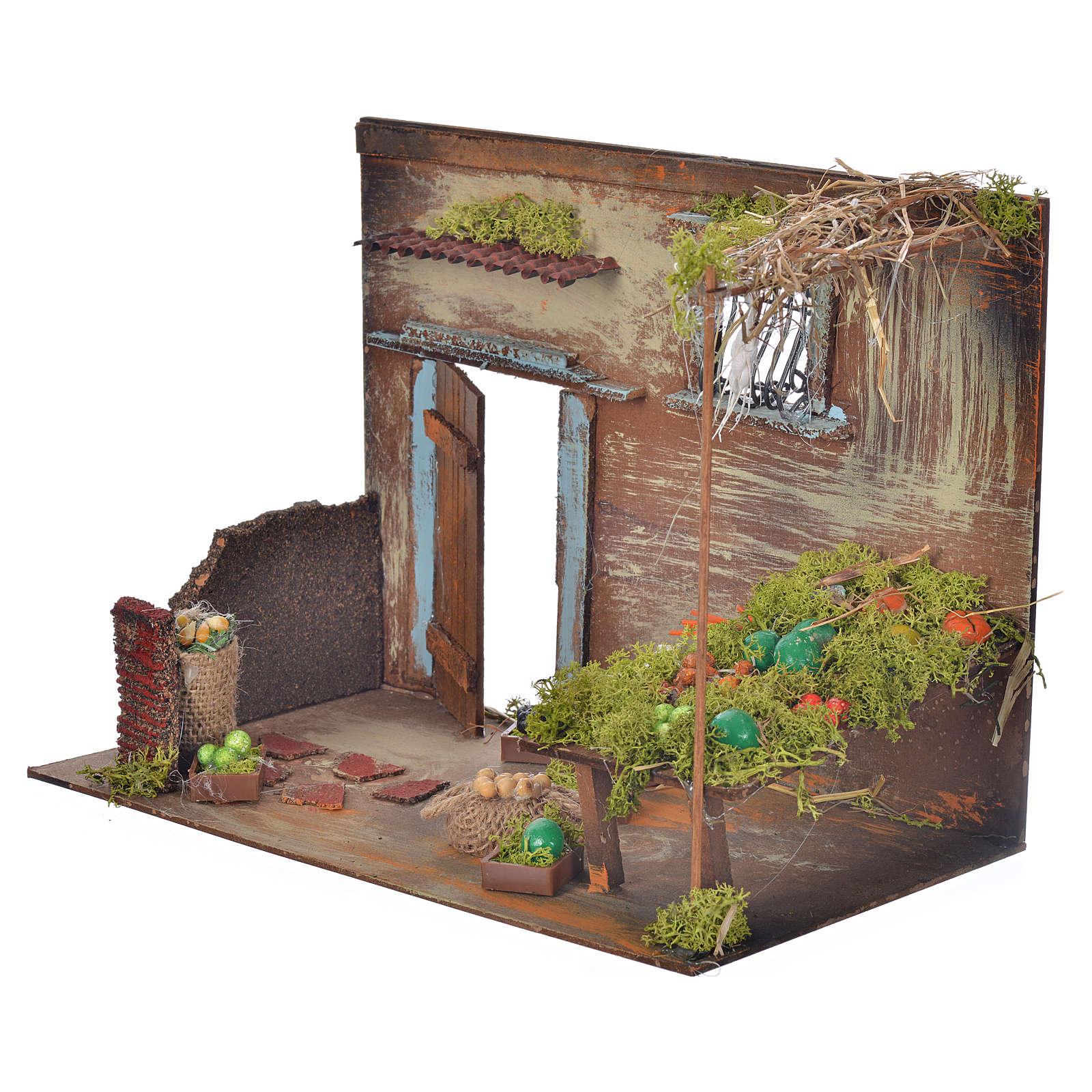 Boutique fruits et légumes en miniature cm 33x18x25 4