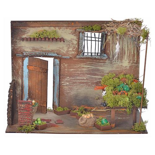 Boutique fruits et légumes en miniature cm 33x18x25 1