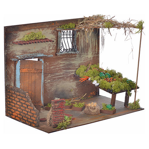 Boutique fruits et légumes en miniature cm 33x18x25 2