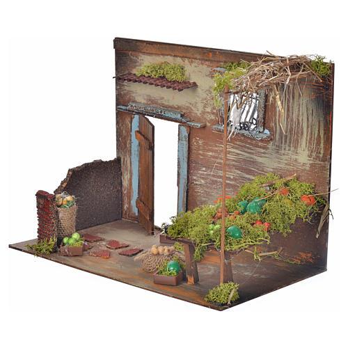 Boutique fruits et légumes en miniature cm 33x18x25 3