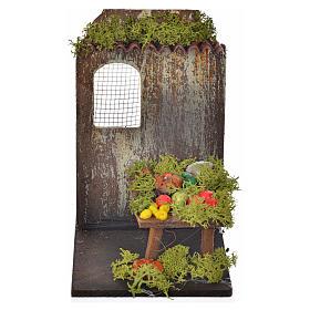 Settings, houses, workshops, wells: Nativity setting, fruit shop 9,5x9,5x15cm