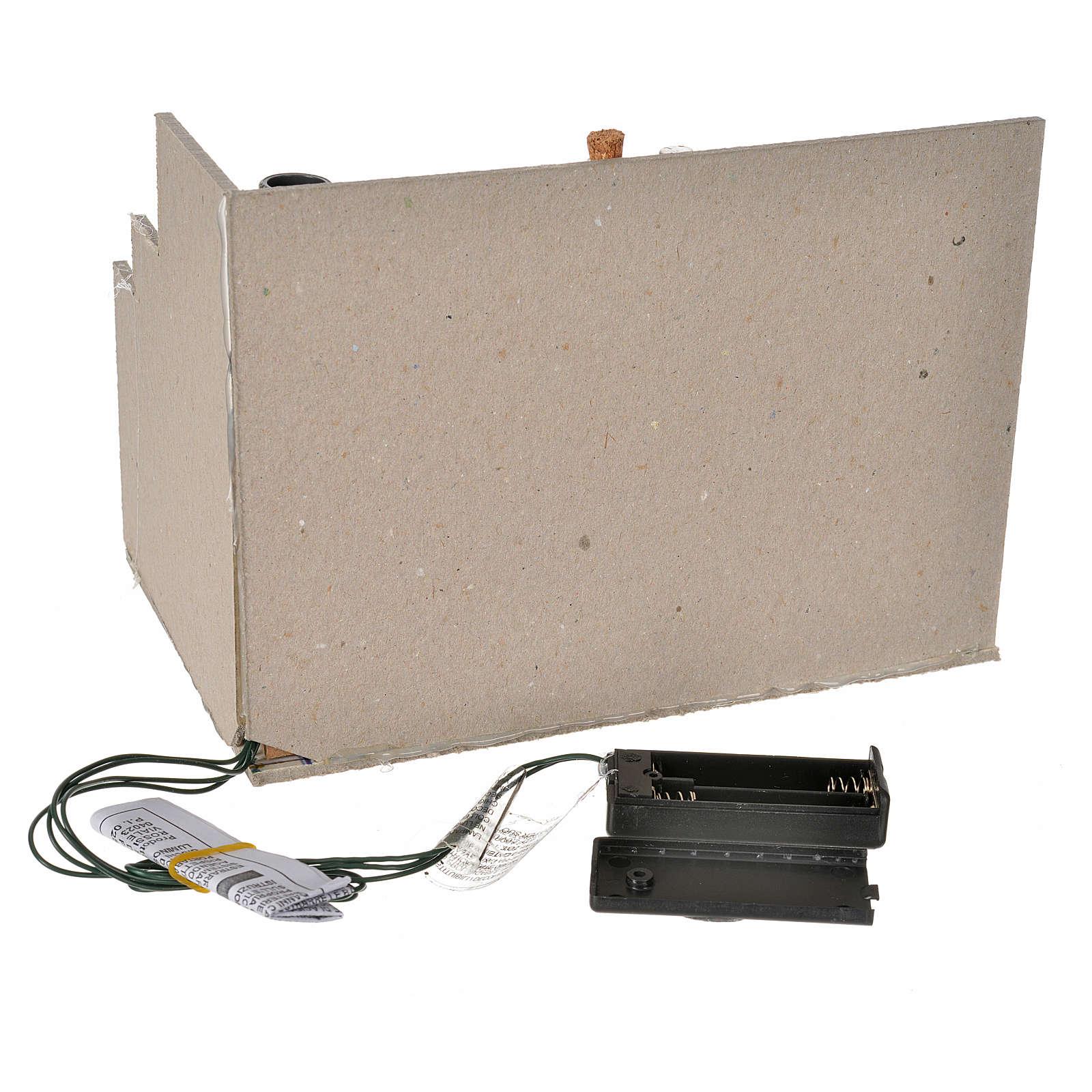 Chimenea 2 LED parpadeante cm. 20 x 14 x 14,5 4