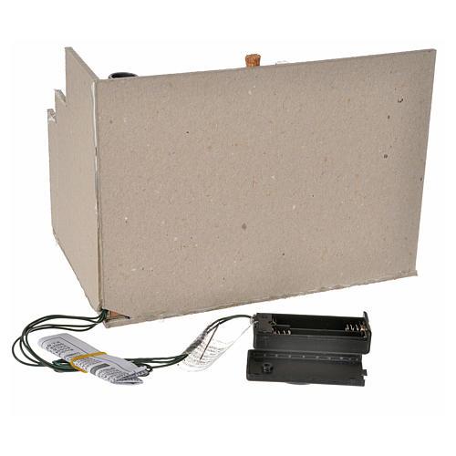 Chimenea 2 LED parpadeante cm. 20 x 14 x 14,5 3