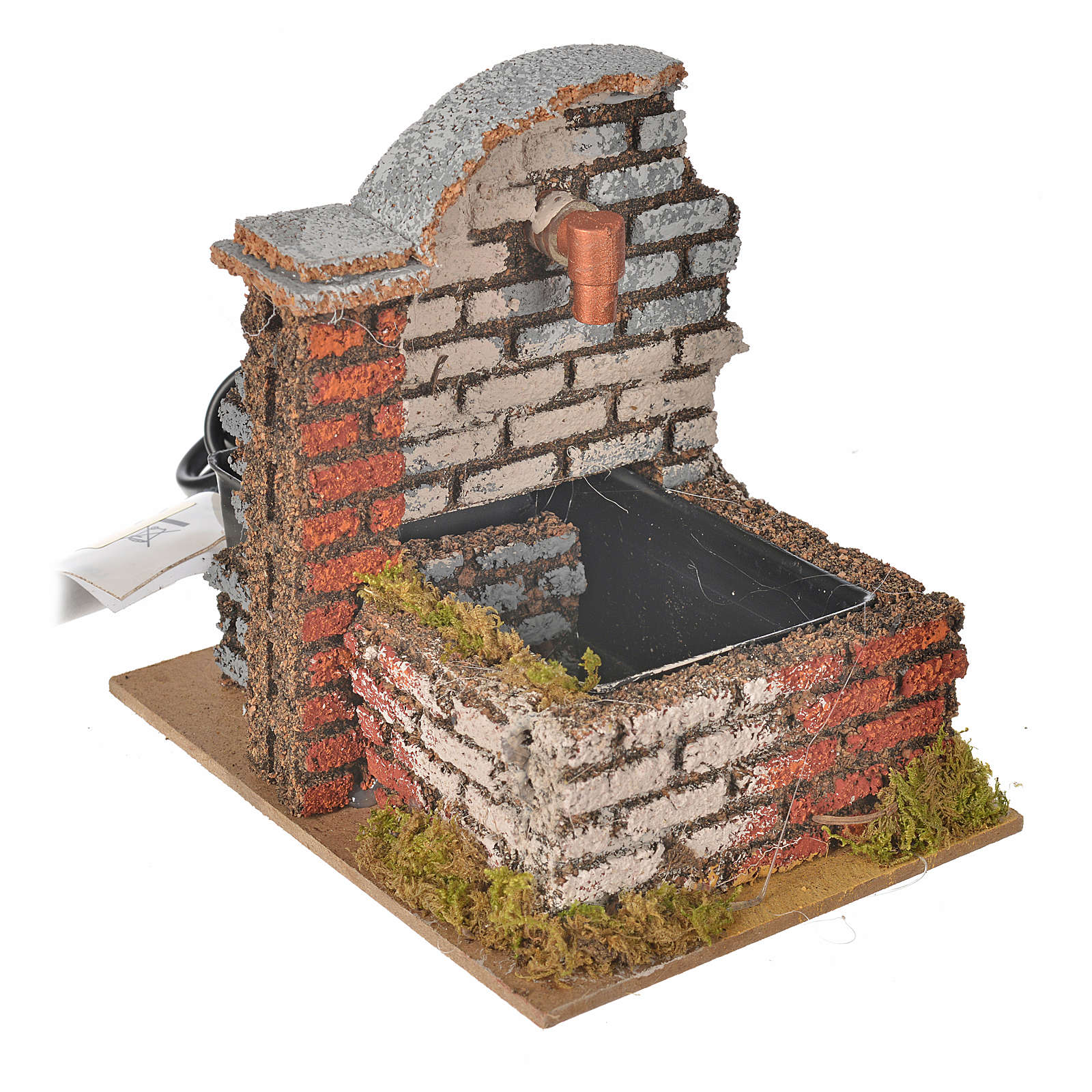 Nativity fountain with water pump measuring 13x10x12cm 4