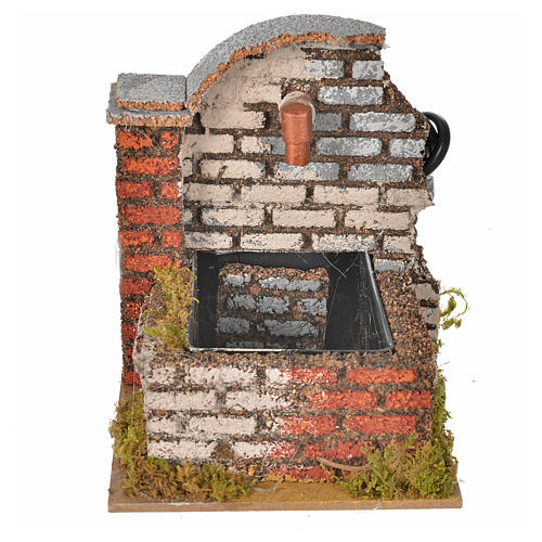 Nativity fountain with water pump measuring 13x10x12cm 1