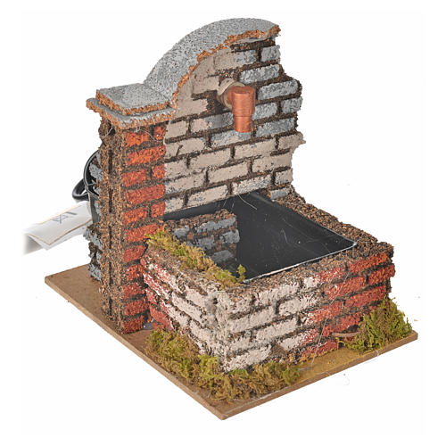 Nativity fountain with water pump measuring 13x10x12cm 2