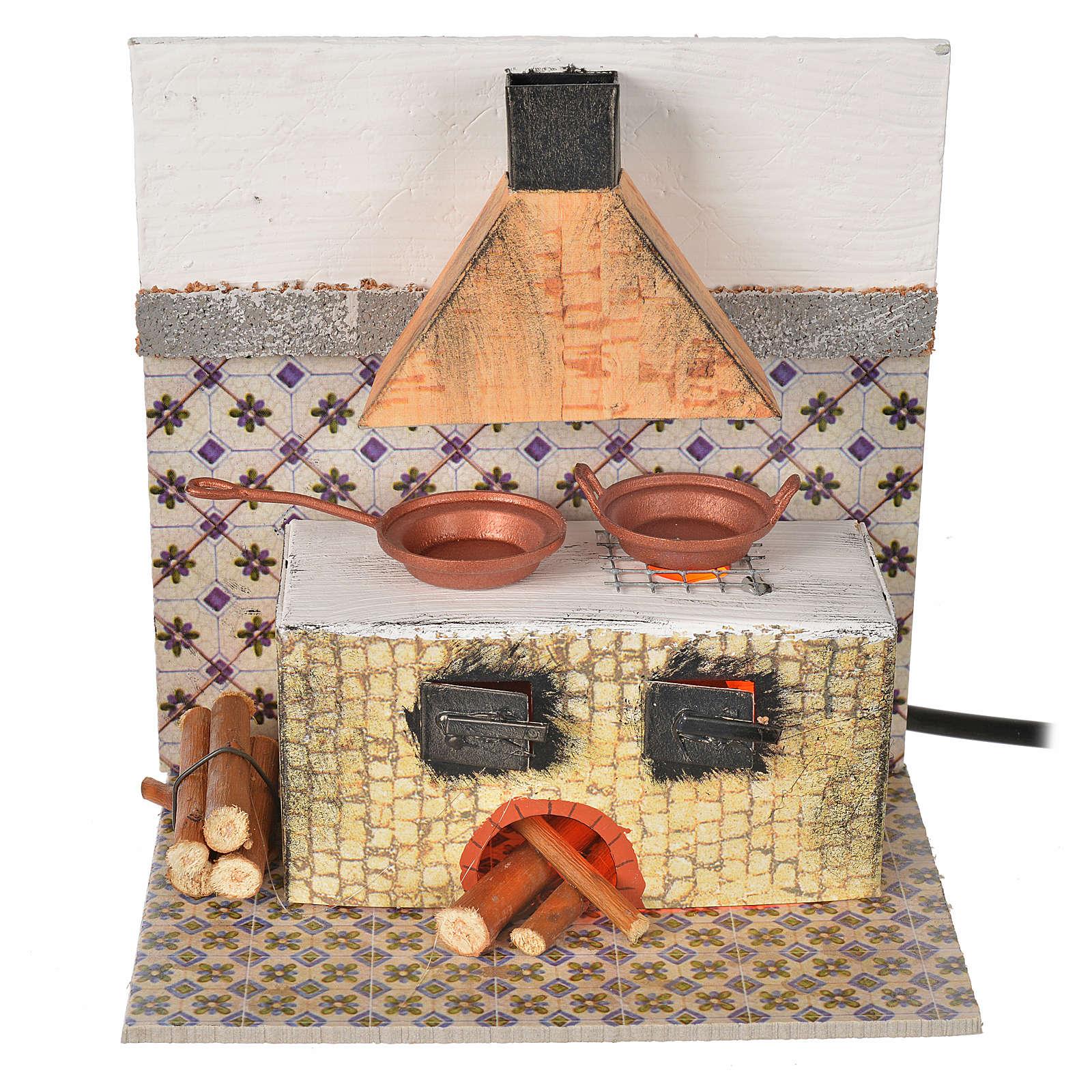 Cucina con lamp. eff. fiamma cm. 15x10x15,5 4