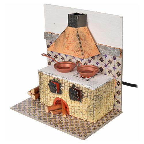 Cucina con lamp. eff. fiamma cm. 15x10x15,5 2