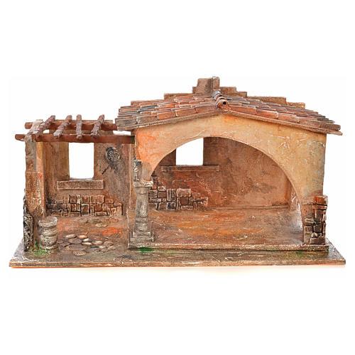 Étable pur la crèche Fontanini 19 cm 1