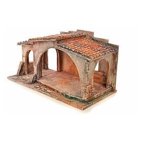 Étable avec toit en tuiles crèche Fontanini 12 cm s3