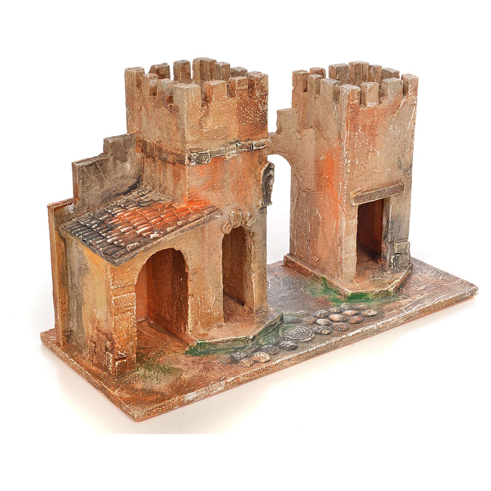 Borgo con torri presepe Fontanini 6,5 cm 4