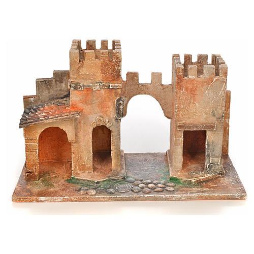 Borgo con torri presepe Fontanini 6,5 cm 1