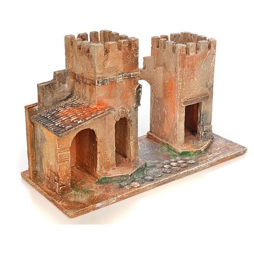 Borgo con torri presepe Fontanini 6,5 cm 2