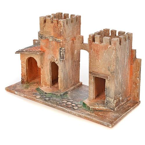 Borgo con torri presepe Fontanini 6,5 cm 3