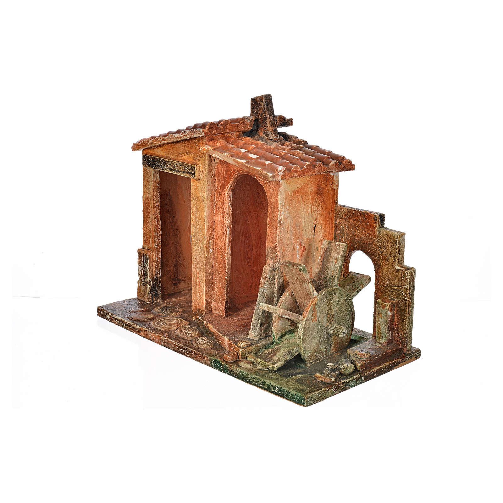 Milieu mulin crèche Fontanini 12 cm 4