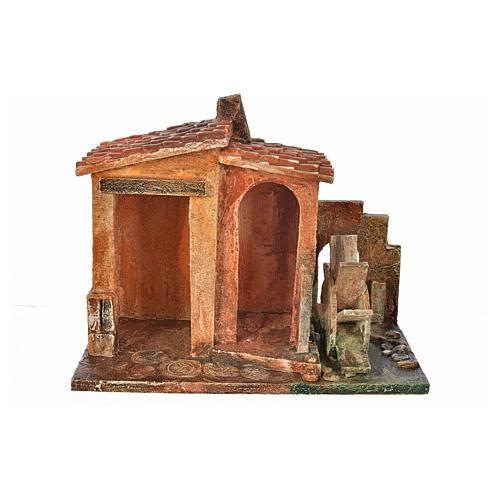 Ambientazione mulino presepe Fontanini cm 12 1