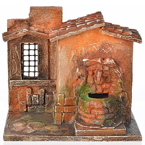 Fontaine électrique en miniature crèche Fontanini 1