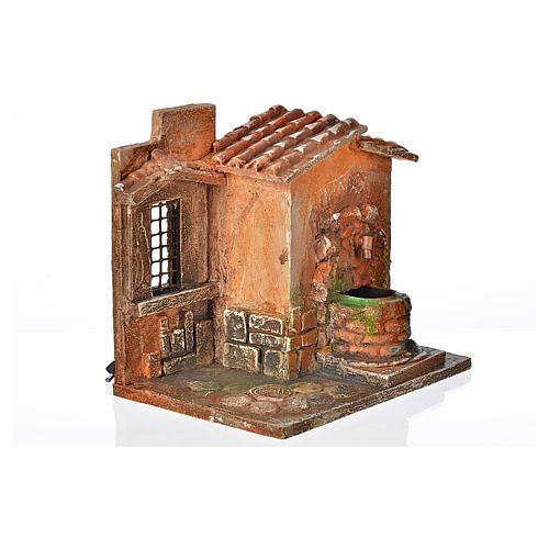 Fontaine électrique en miniature crèche Fontanini 2