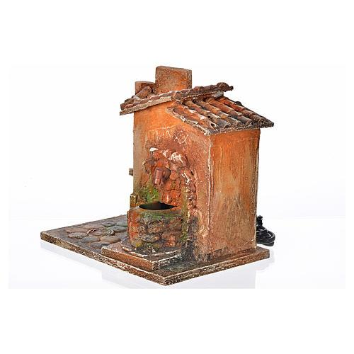 Fontaine électrique en miniature crèche Fontanini 3