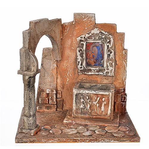 Sarcófago con ícono pesebre Fontanini cm. 12 1