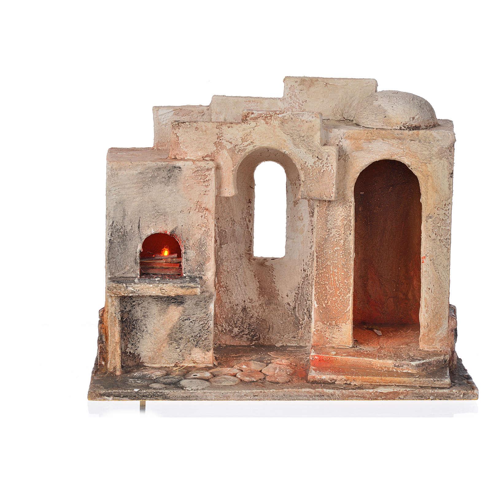 Forno eléctrico cenário presépio 12 cm Fontanini 4