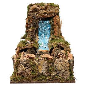 Wasserfall mit Bach und Pumpe 60x34cm s1