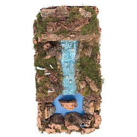 Wasserfall mit Bach und Pumpe 60x34cm s2