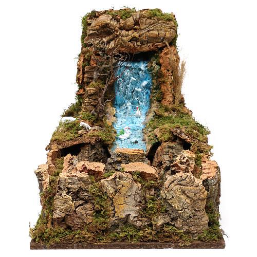 Wasserfall mit Bach und Pumpe 60x34cm 1