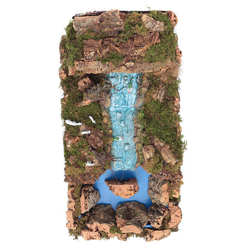 Nativity setting, waterfall with stream and pump 60x34cm 2