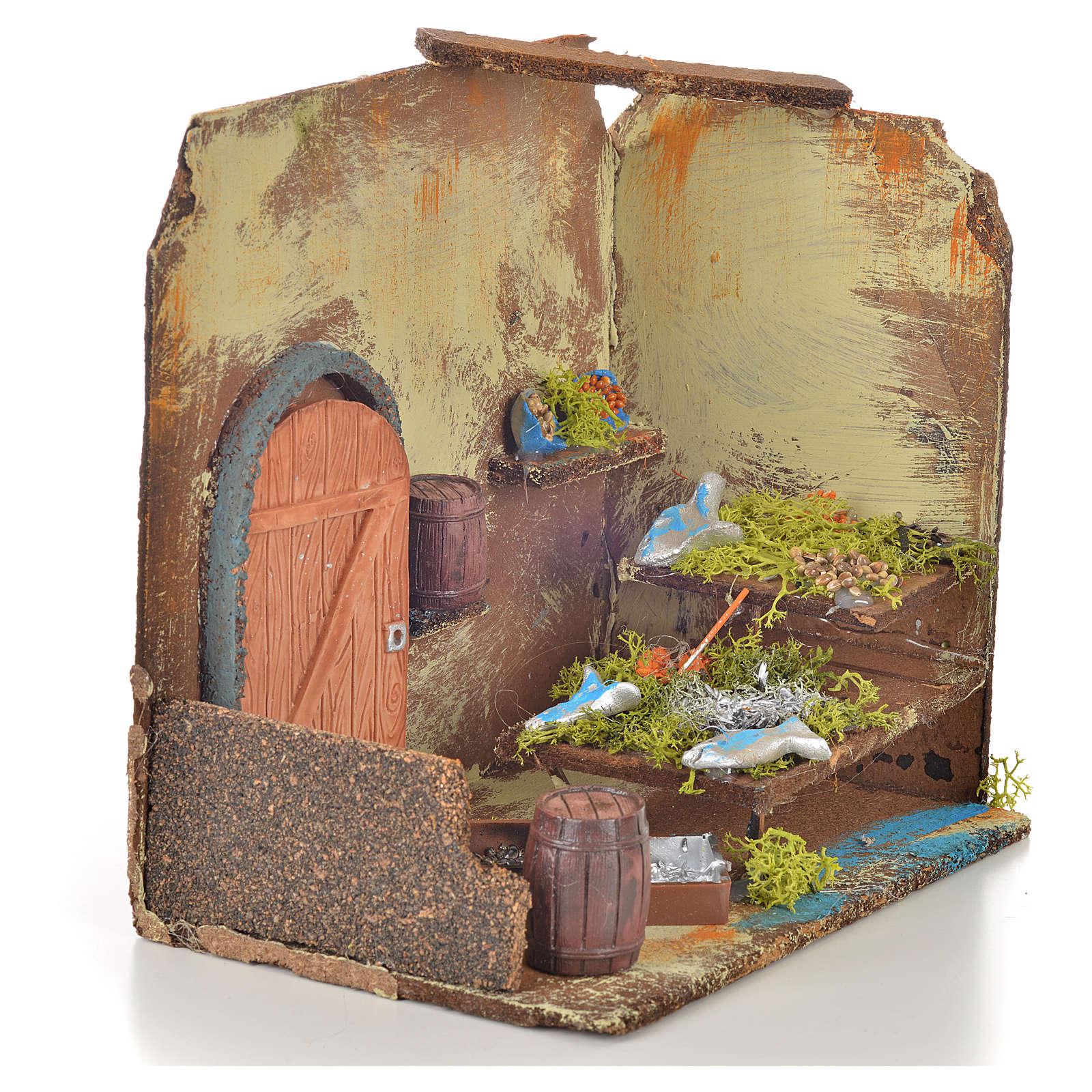 Magasin du poissonnier miniature crèche 20x14x20 cm 4