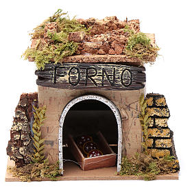 Nativity setting, baker's workshop 15x10cm s1
