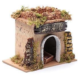Nativity setting, baker's workshop 15x10cm s3