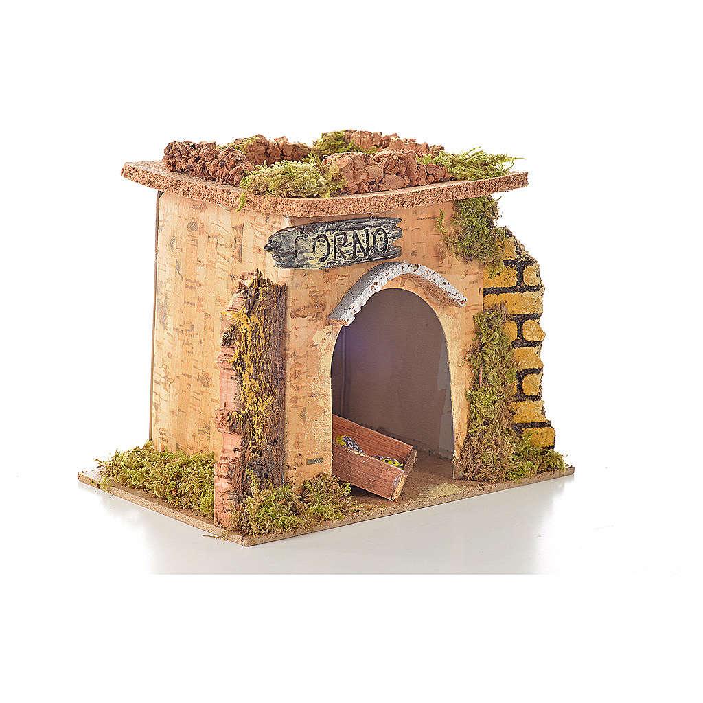 Nativity setting, baker's workshop 15x10cm 4