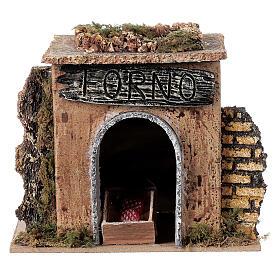 Nativity setting, baker's workshop 15x10cm s7