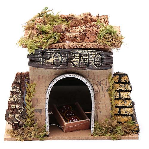 Nativity setting, baker's workshop 15x10cm 1