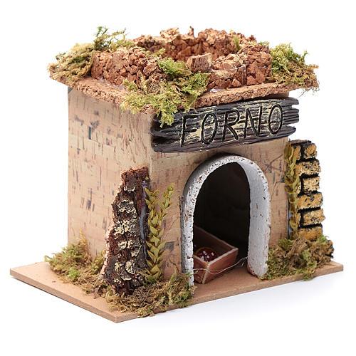Nativity setting, baker's workshop 15x10cm 3