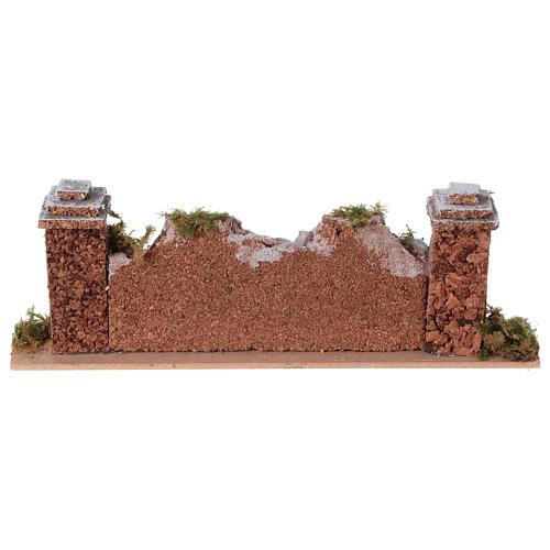 Mur en pierre en miniature avec piliers 20x3,5x6,5 4