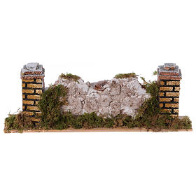 Ambientazioni, botteghe, case, pozzi: Muretto con pietre 20X3,5X6,5