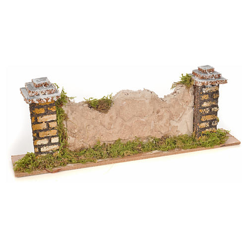 Nativity setting, wall with stones 20x3,5x6,5cm 1