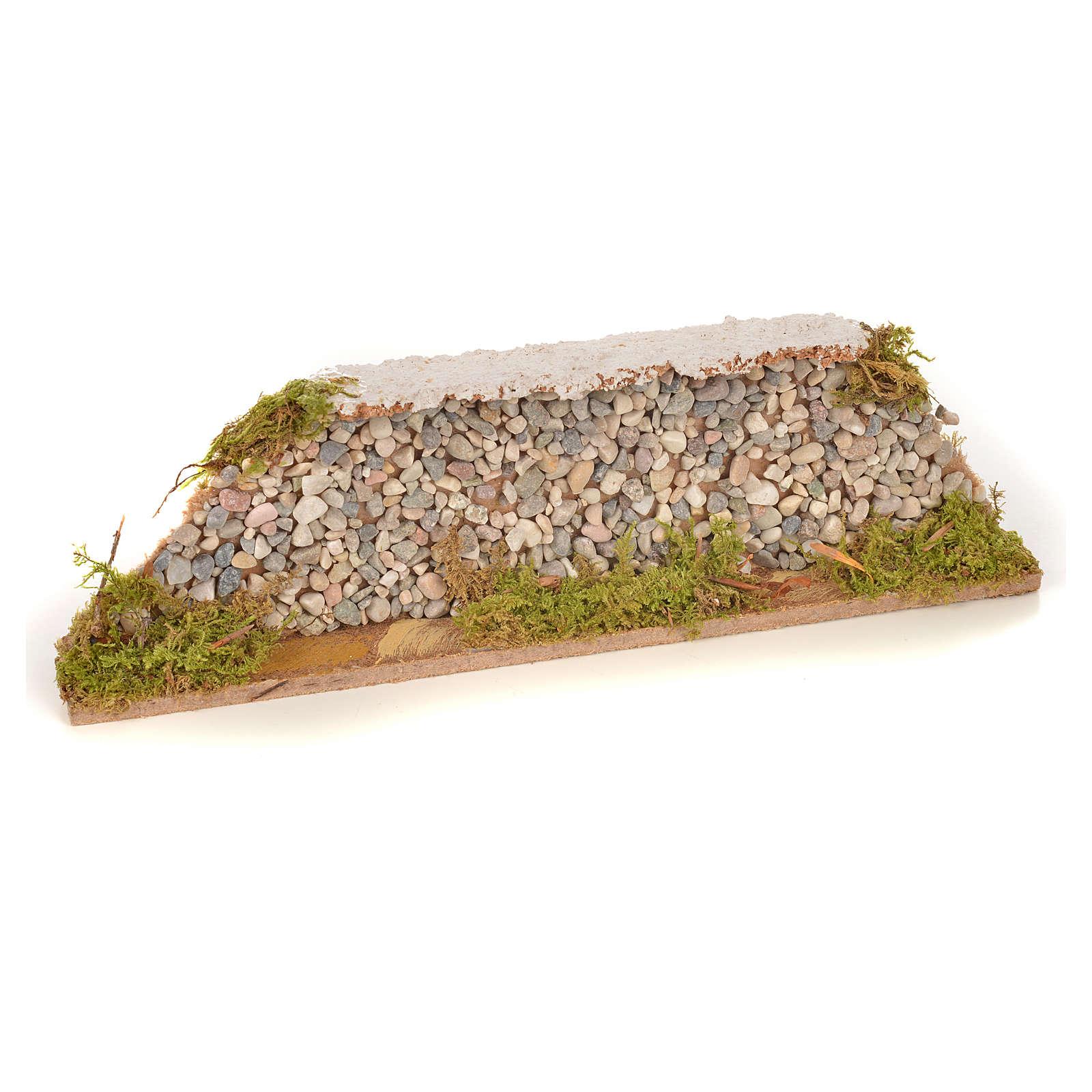 Mur en pierre en miniature 20x3,5x6,5 4