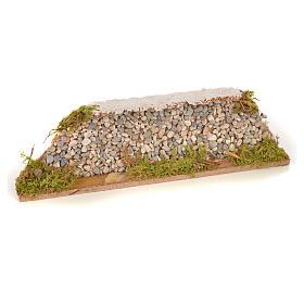 Mur en pierre en miniature 20x3,5x6,5 s1