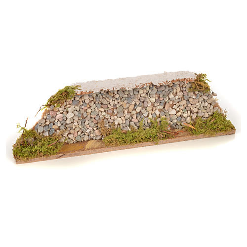 Nativity setting, stone wall 20x3,5x6,5cm 1