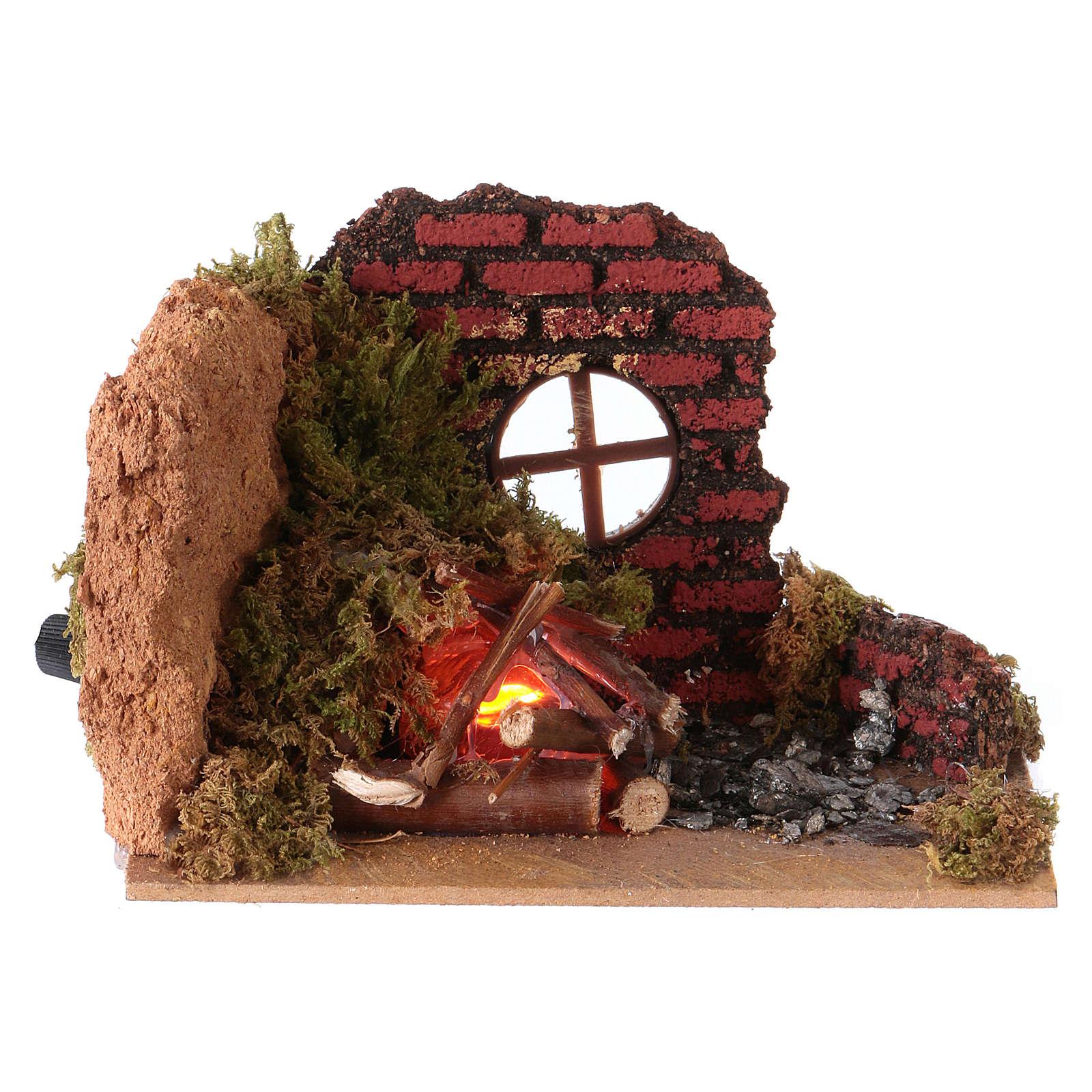 Nativity fire flame effect lamp 15x10 4