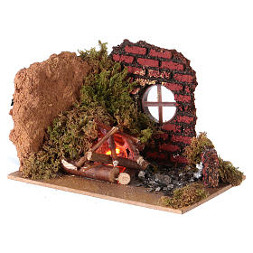 Nativity fire flame effect lamp 15x10 s2