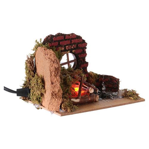 Nativity fire flame effect lamp 15x10 3