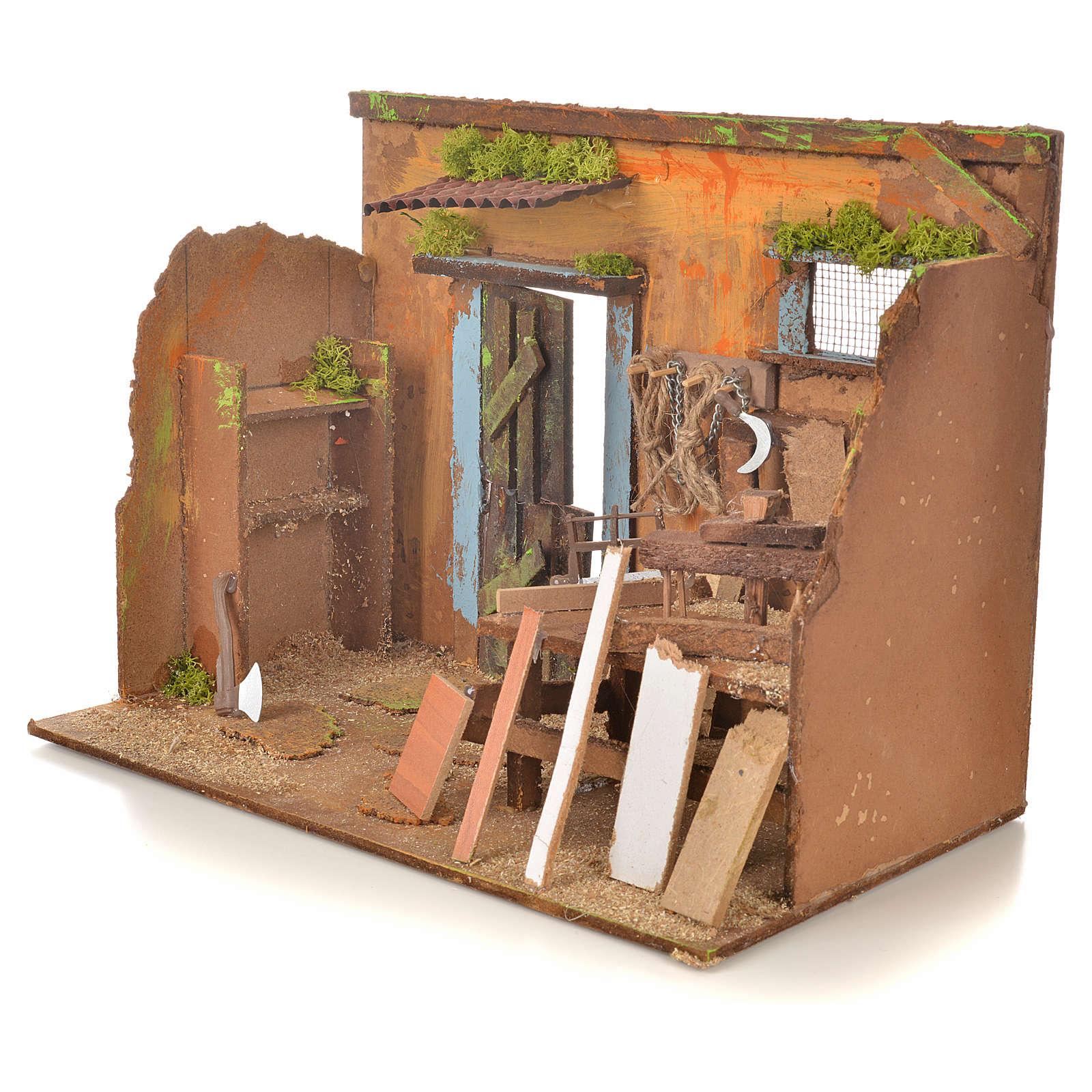 Décor crèche atelier de menuiserie 33x18x25 4