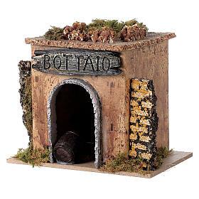 Magasin tonnelier en miniature crèche 15x10 cm s2